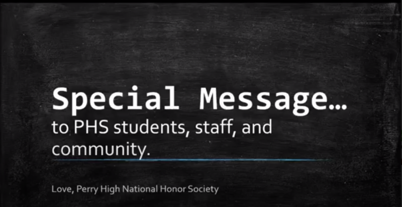 A Special Video Message from National Honor Society Thumbnail Image