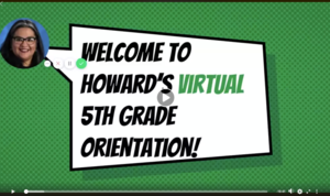 virtual orientation graphic with headshot of assistant principal