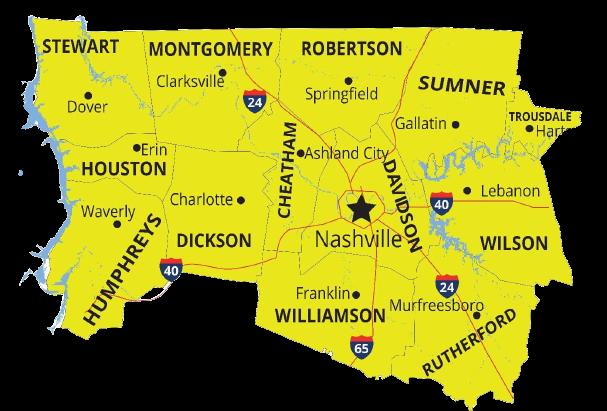 Cheatham County map