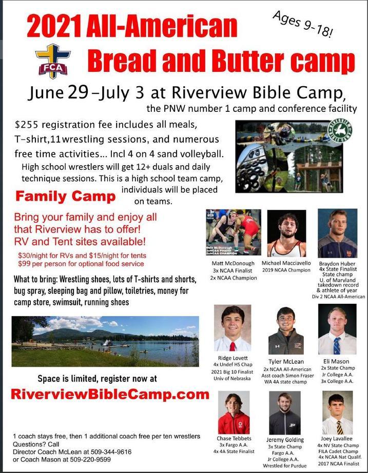 Optional wrestling summer camp