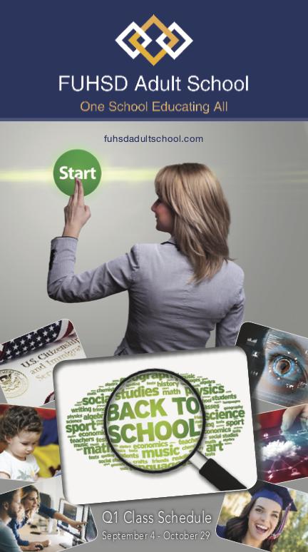 FUHSD Quarter 1 Catalog Front Cover