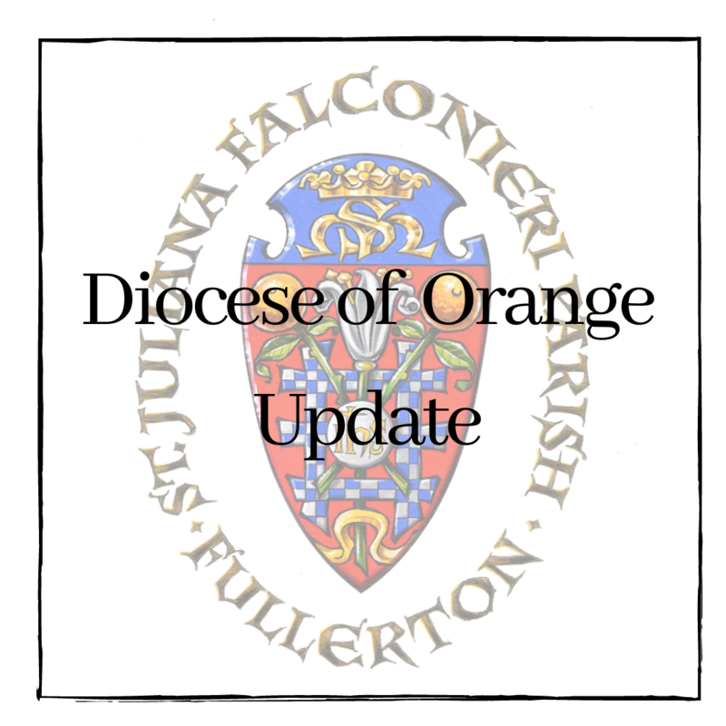 Update from the Diocese of Orange Featured Photo