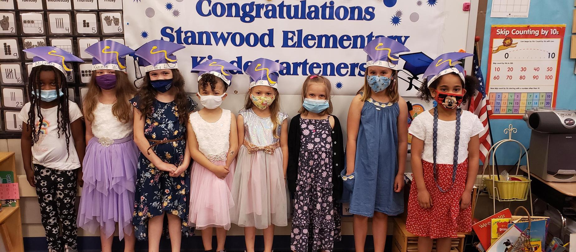 kindergarten students graduating