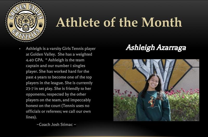 Ashleigh Azarraga is GV Female Athlete of the Month Featured Photo