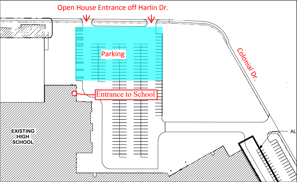 Cleburne High School Parking for Open House