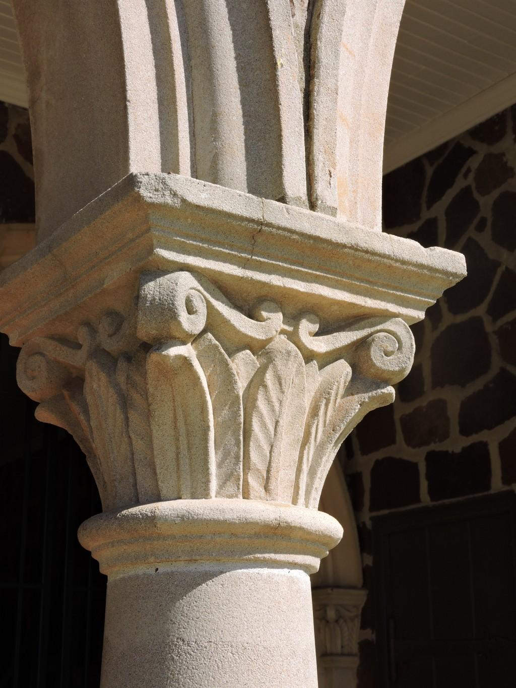 top of a column at tomato bowl