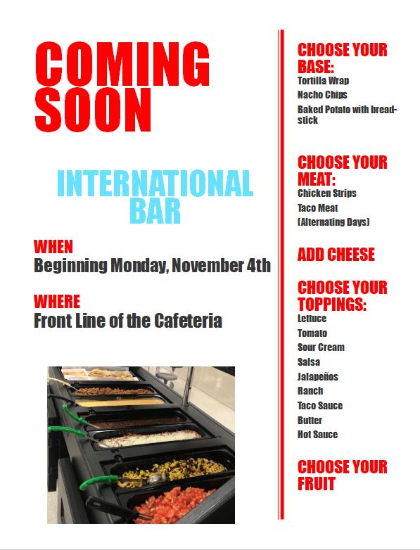 Coming Soon!  International Bar Featured Photo