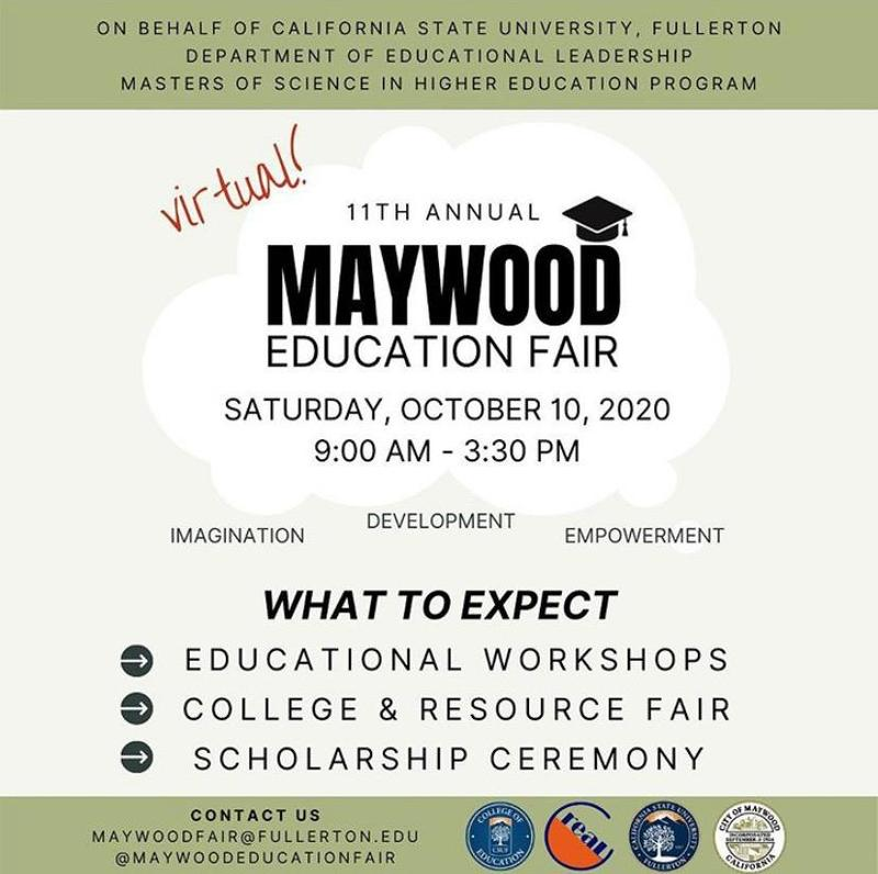 Maywood Education Fair English Flyer