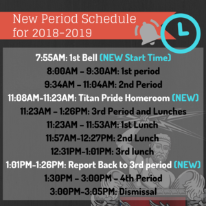 New Bell Schedules