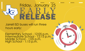 Buses will run 3 hours early on January 25.
