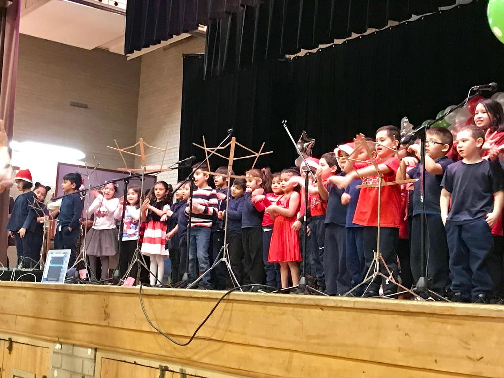 our youngest students singing