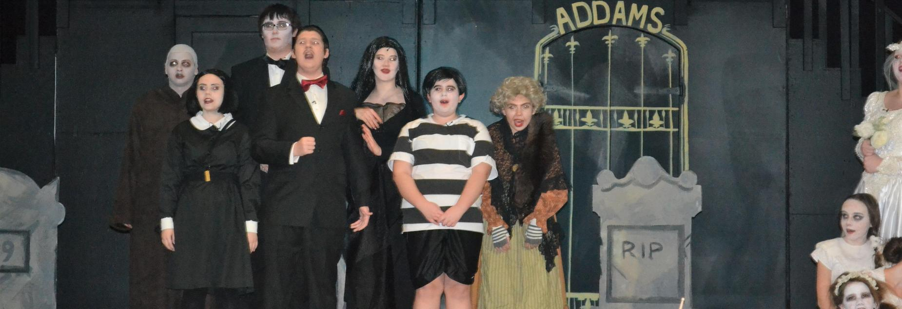 Addams Family on stage, 2018