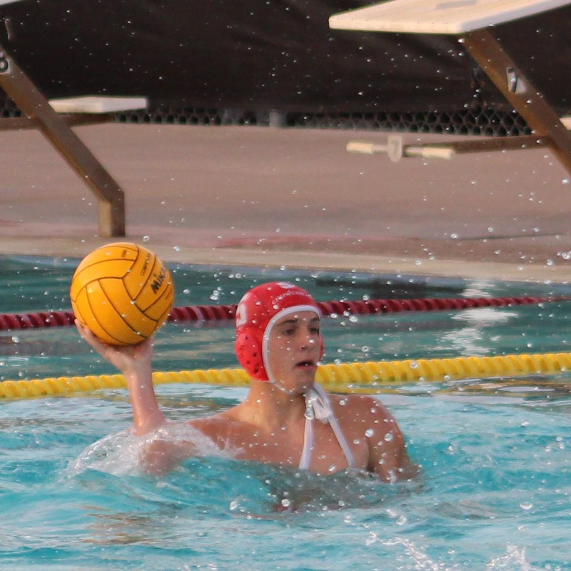 boys water polo playing