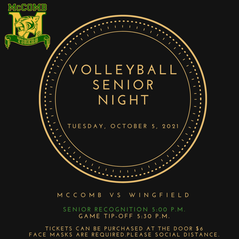 McComb High School Volleyball Senior Night News 2021