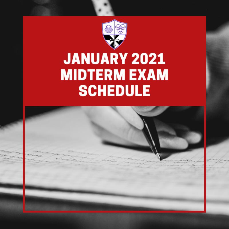 January Midterm Exam Schedule