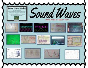 Sound waves drawing collage