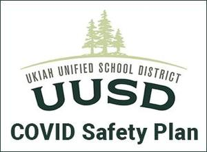 UUSD logo graphic with the words COVID Safety Plan