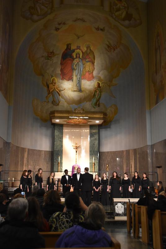 PCS choir 2018 at The Grotto