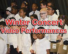 Winter concert video performances
