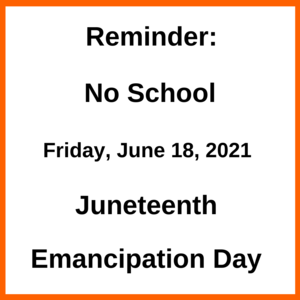 Graphic with information about Juneteenth. All wording is also in the body of the text.
