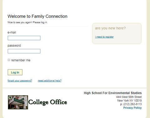 Home – College Office – High School for Environmental Studies