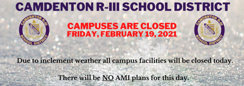 Campus Closed - Friday, February 19, 2021 Featured Photo