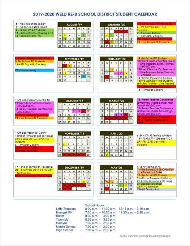 19.20 Student Calendar