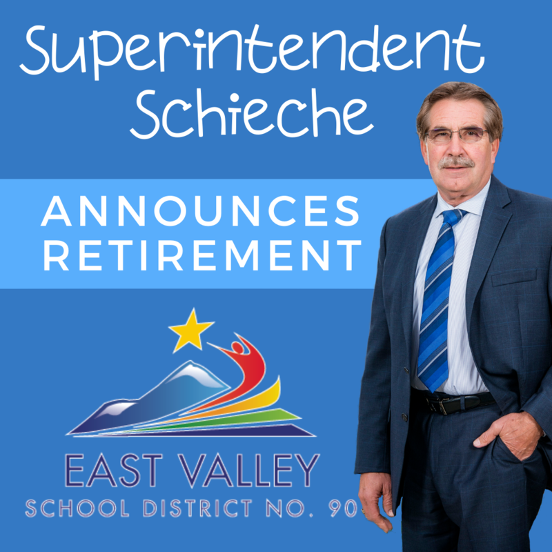 Superintendent Schieche Announces Retirement with a picture of Mr. Schieche