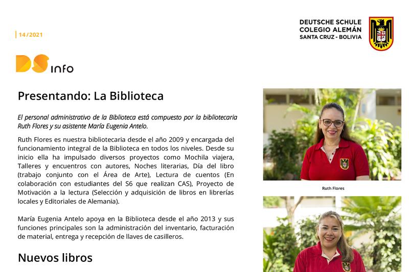 DS-info #14 - Presentando: La Biblioteca Featured Photo