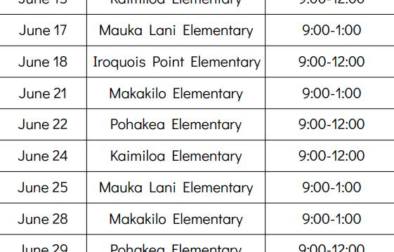 June Bookmobile Schedule Featured Photo