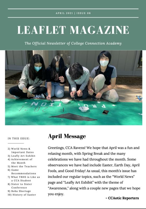 CCA News - April Leaflet Magazine Thumbnail Image
