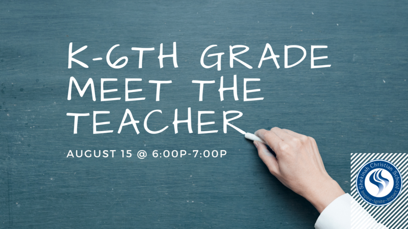 K-6th Grade Meet the Teacher | August 15 @ 6-7p Thumbnail Image