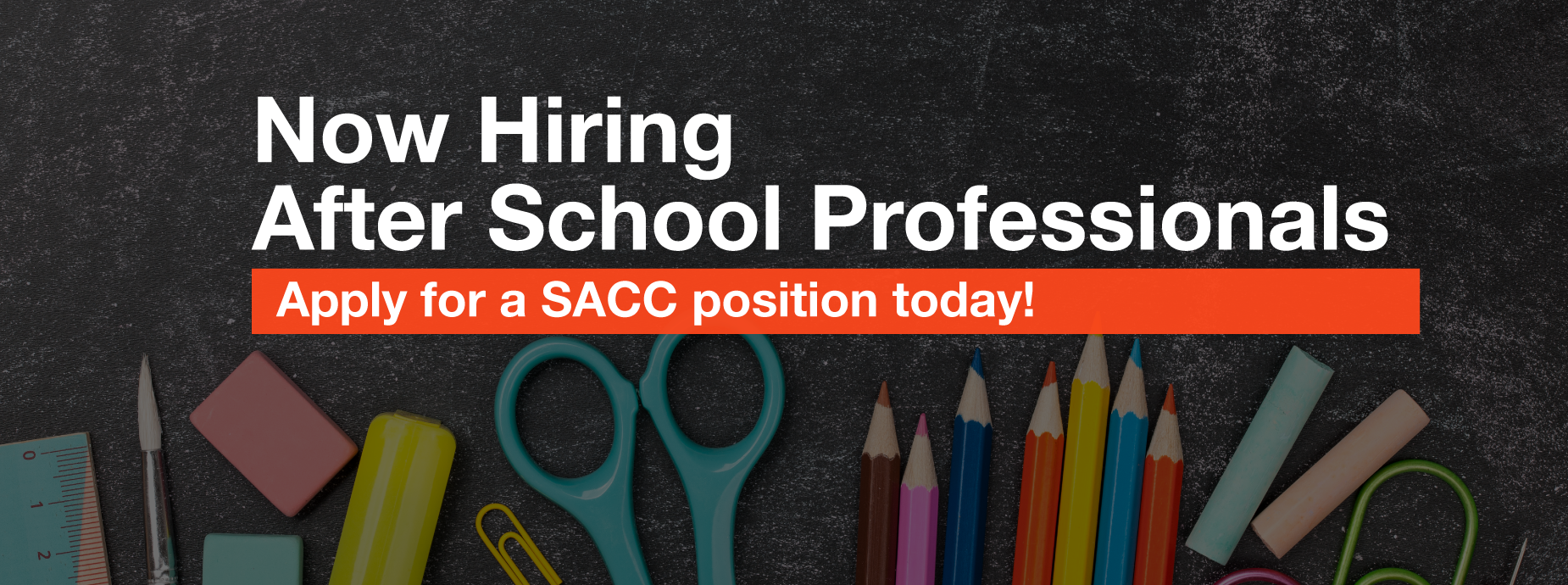 Now Hiring SACC Professionals Banner