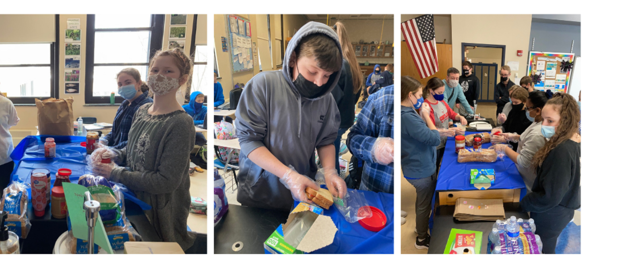 pictures of students making sandwhiches