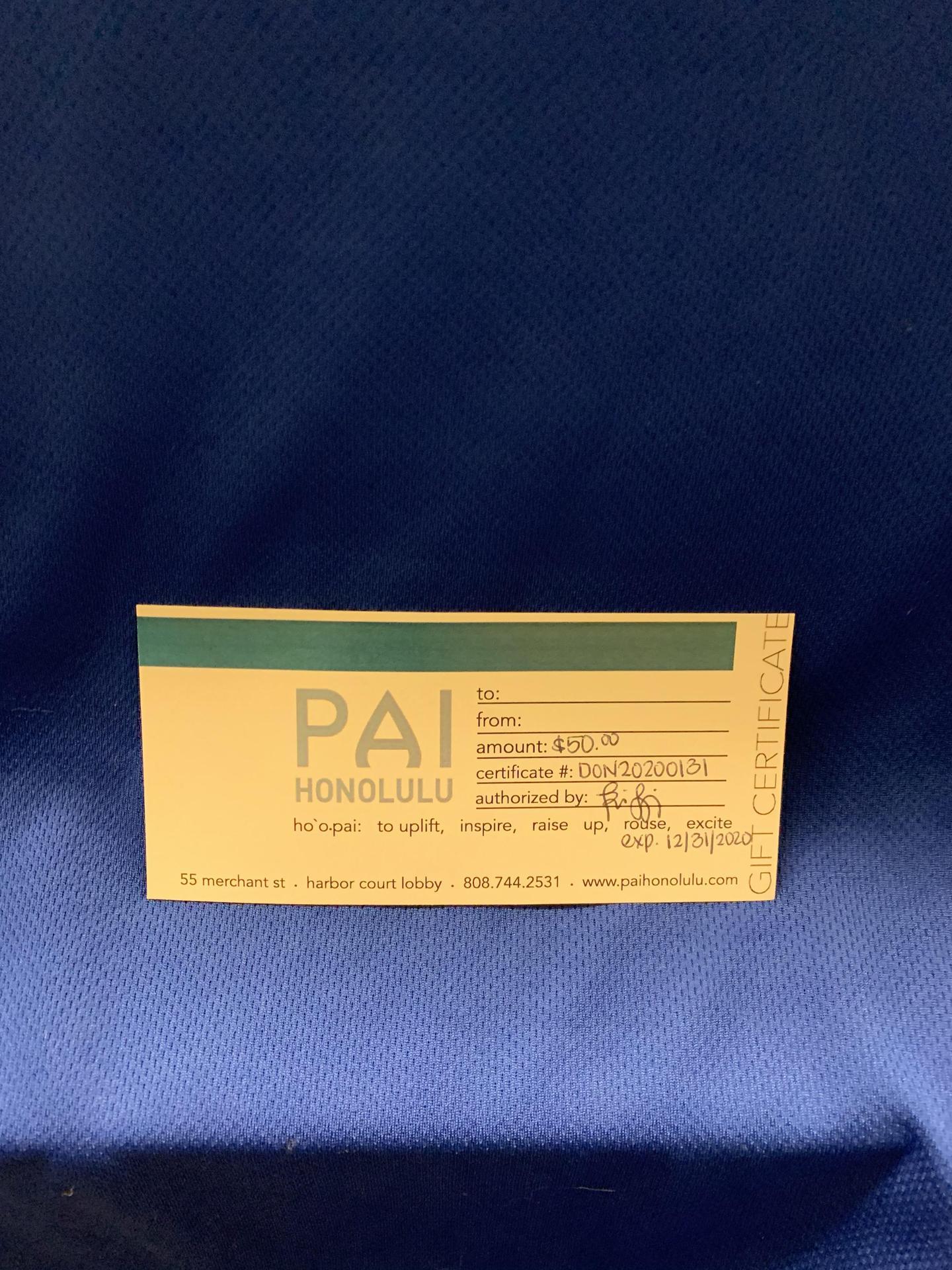 Pai Certificate