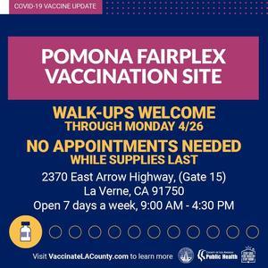 Fairplex Vaccine walk up image