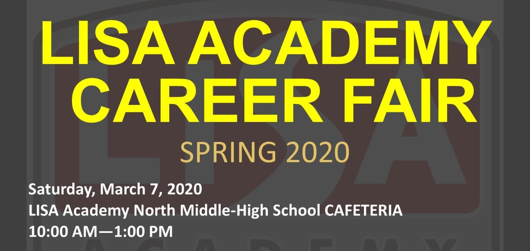 LISA Academy Career Fair, March 7