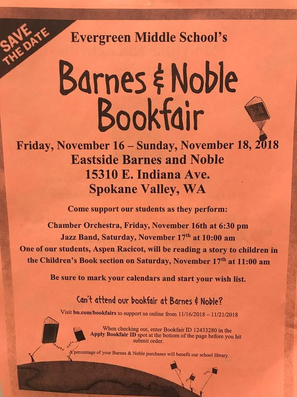 Barnes and Noble Book Fair Flyer