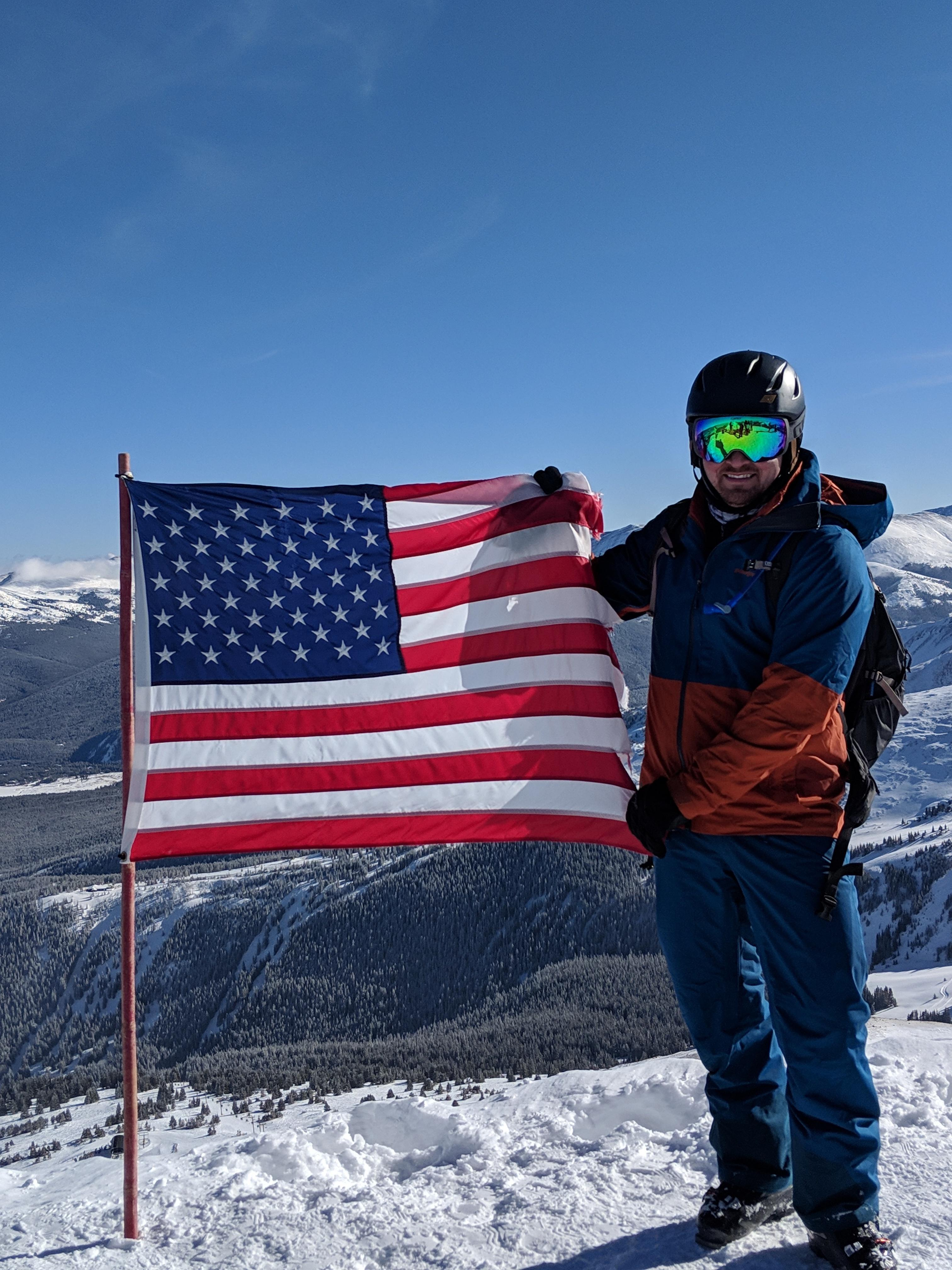 My 'happy place'... The top of Peak 8 at Breckenridge!