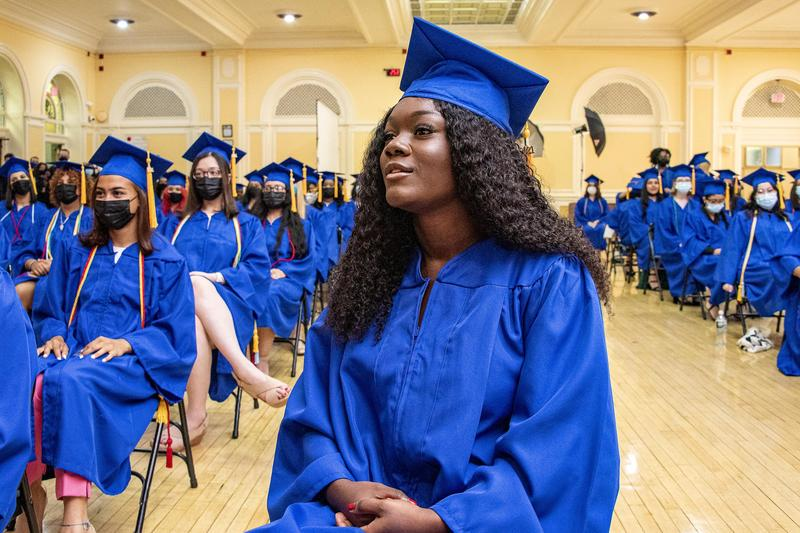 Young Women Before Their Graduation Ceremony
