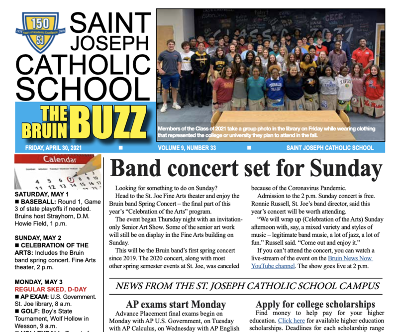 THE BRUIN BUZZ, FRIDAY, APRIL 30 Featured Photo