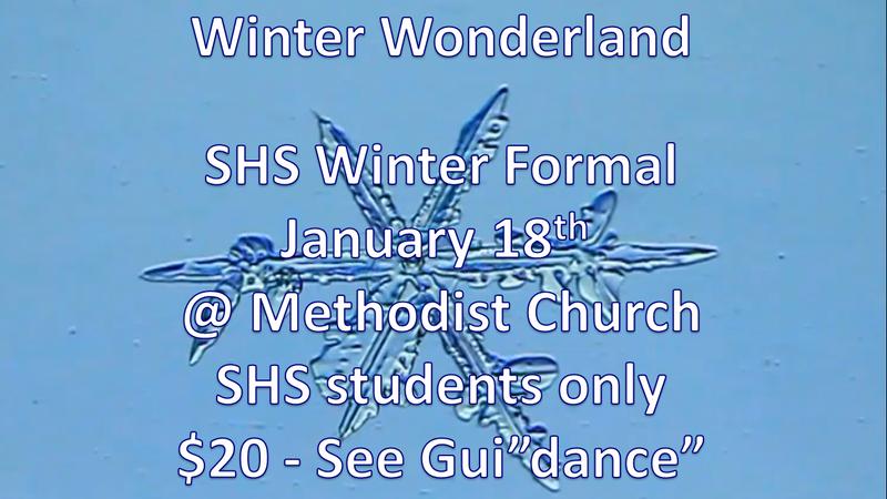 SHS Winter Formal