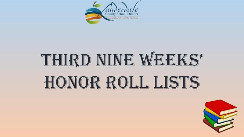 Third Nine Weeks' Honor Roll Lists Graphic