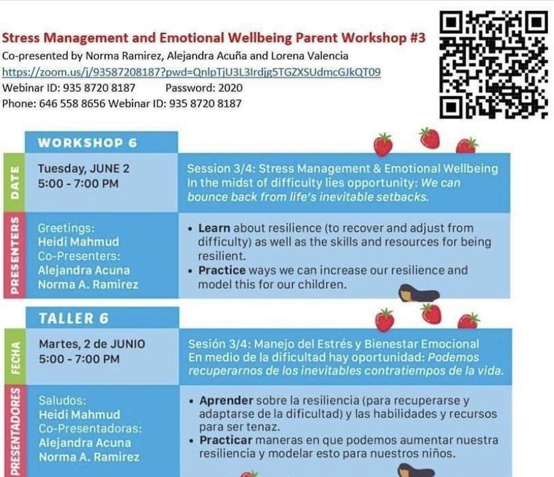 Stress Management and Emotional Parent Workshop #3 Featured Photo
