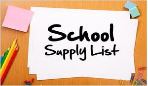 SCHOOL SUPPLY LIST SY18-19 Featured Photo