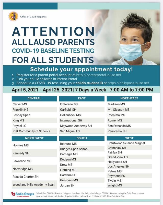Schedule your COVID-19 baseline test today! Featured Photo