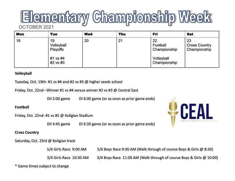 Elementary Championship Week