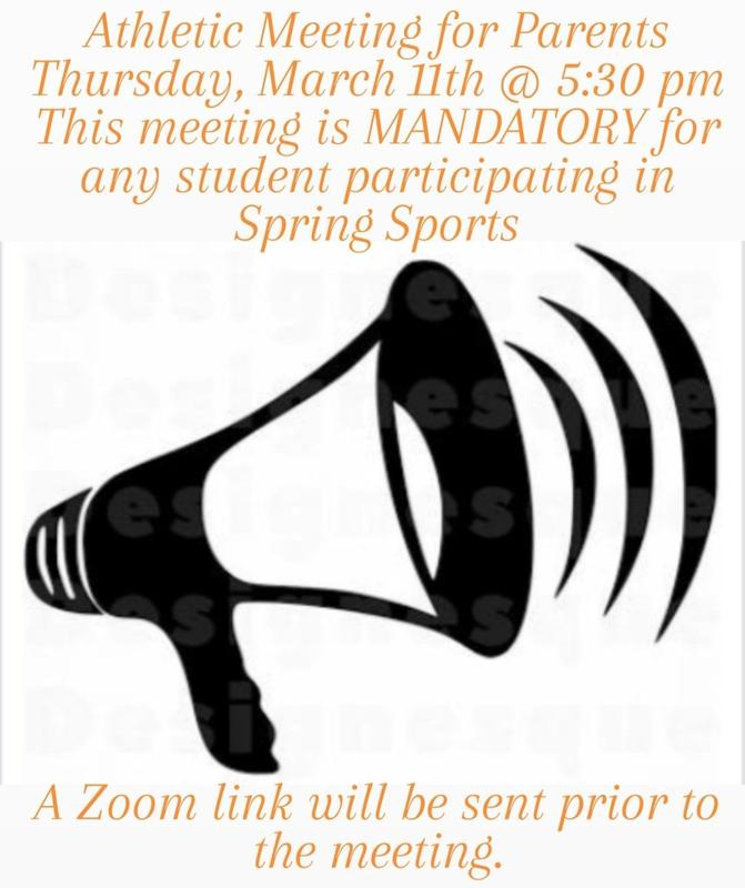 Athletic Meeting for Parents March 11th at 5:30PM Featured Photo