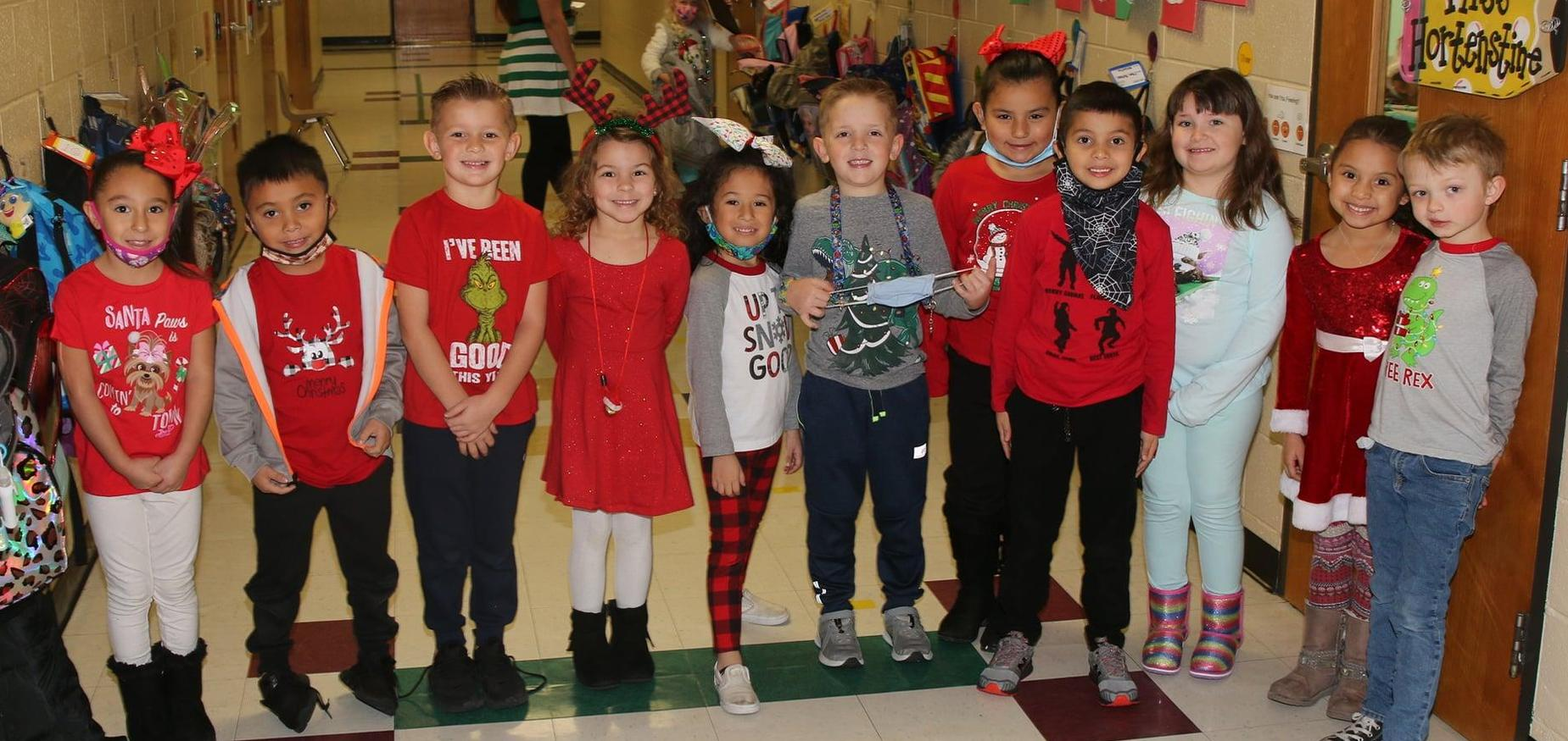 children during christmas dress up days