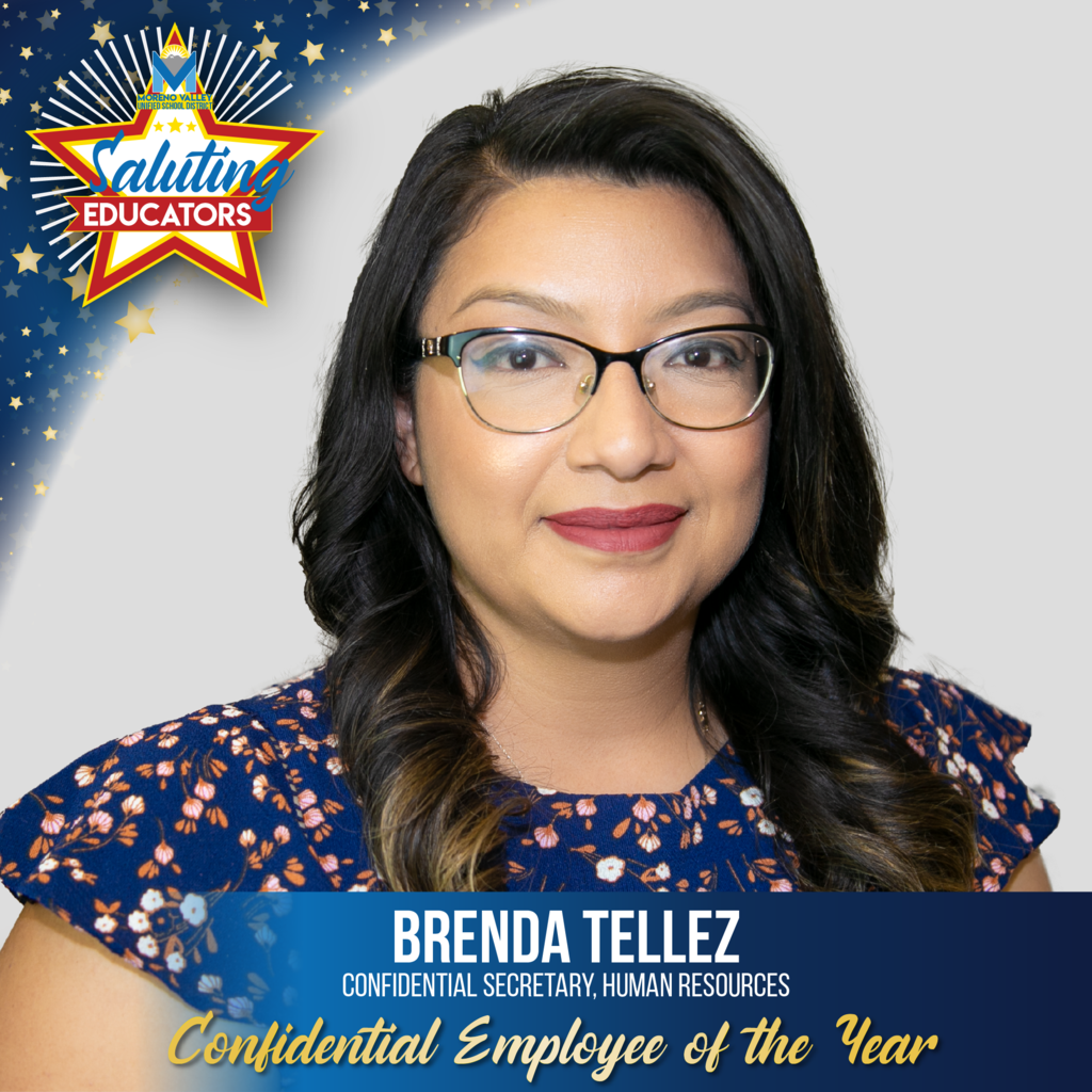 Brenda Tellez is the Confidential Employee of the Year